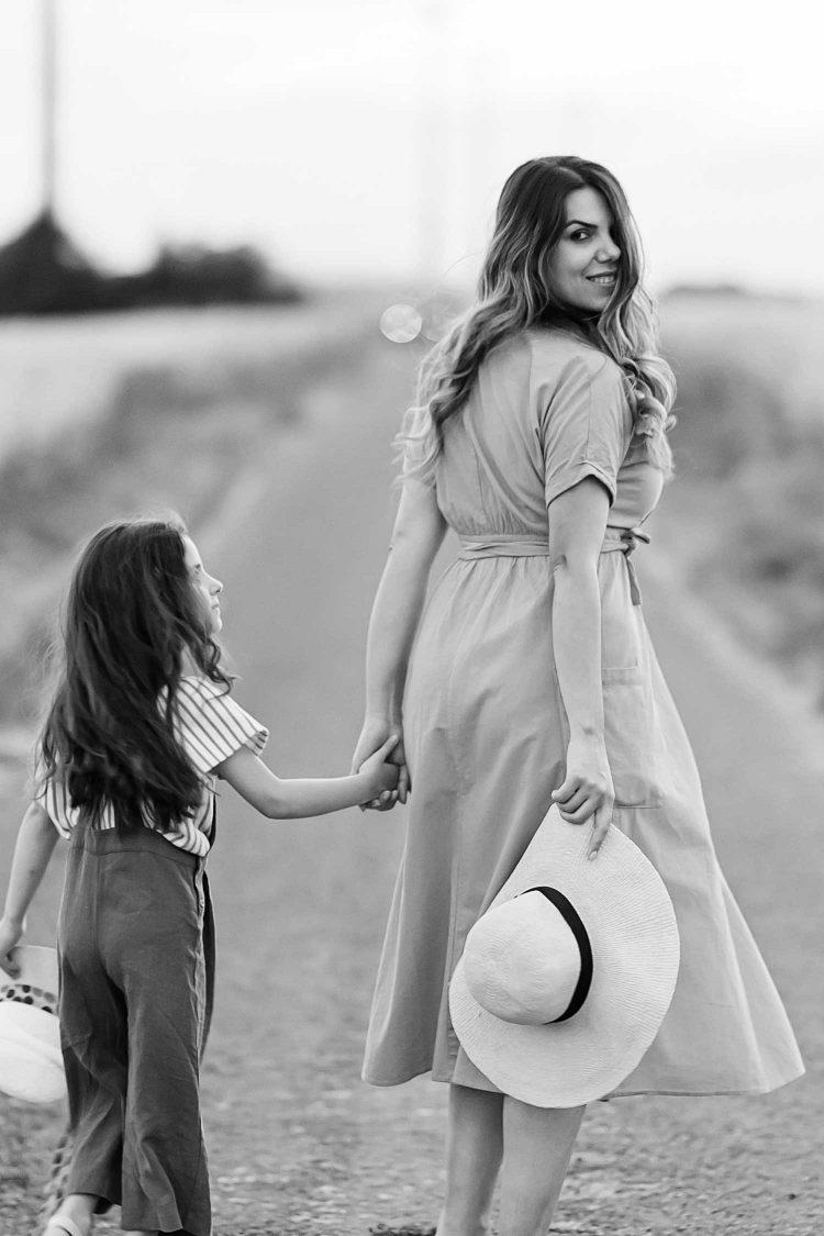 Anjeza Dyrmishi with her daughter