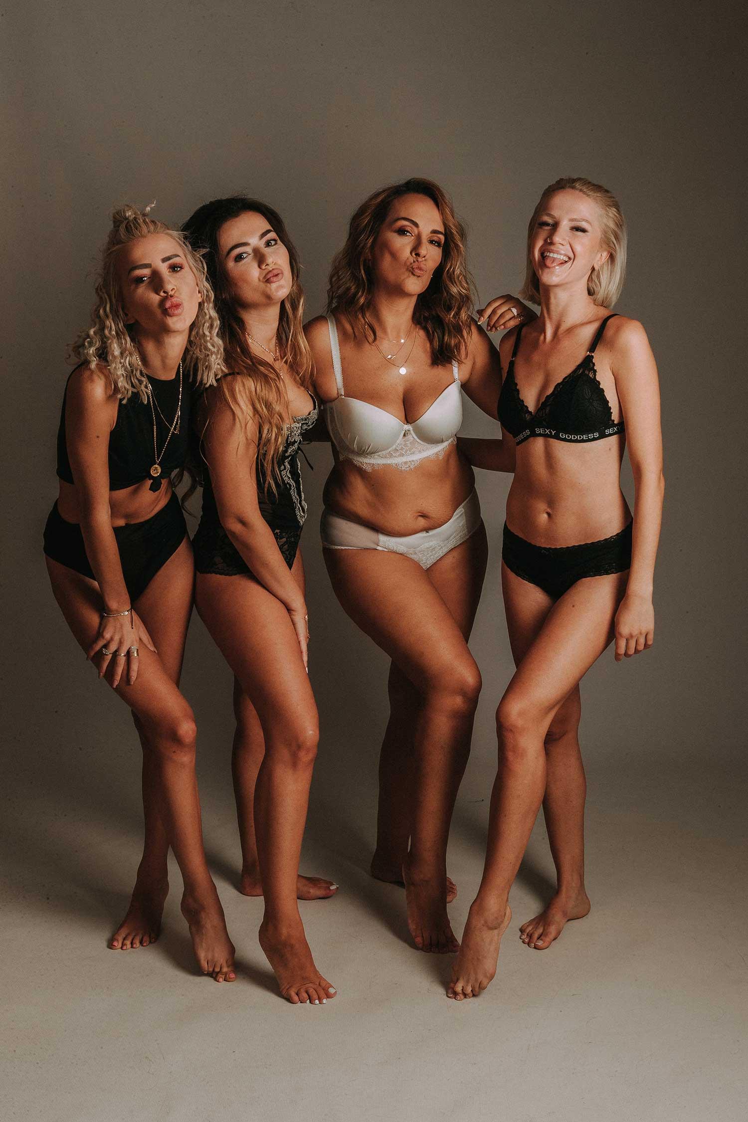 Girls loving their body