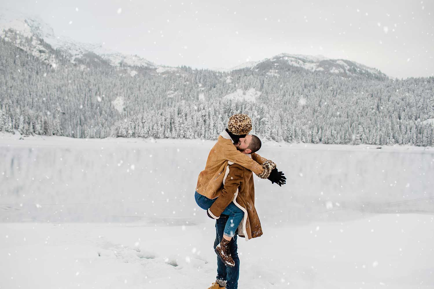 Lovely photoshoot in snow