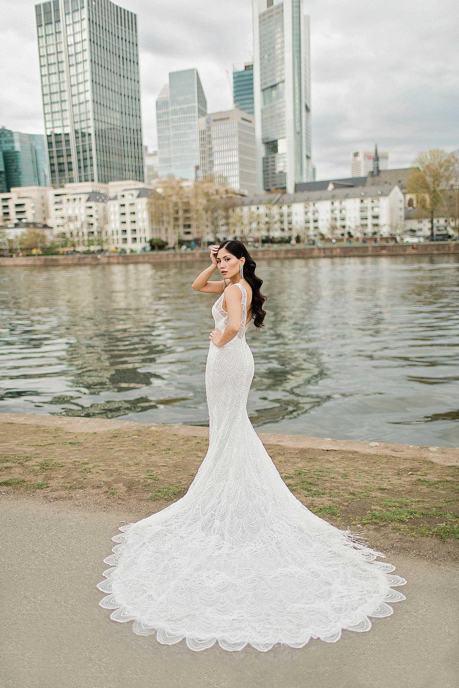 Outdoor wedding editorial photoshoot