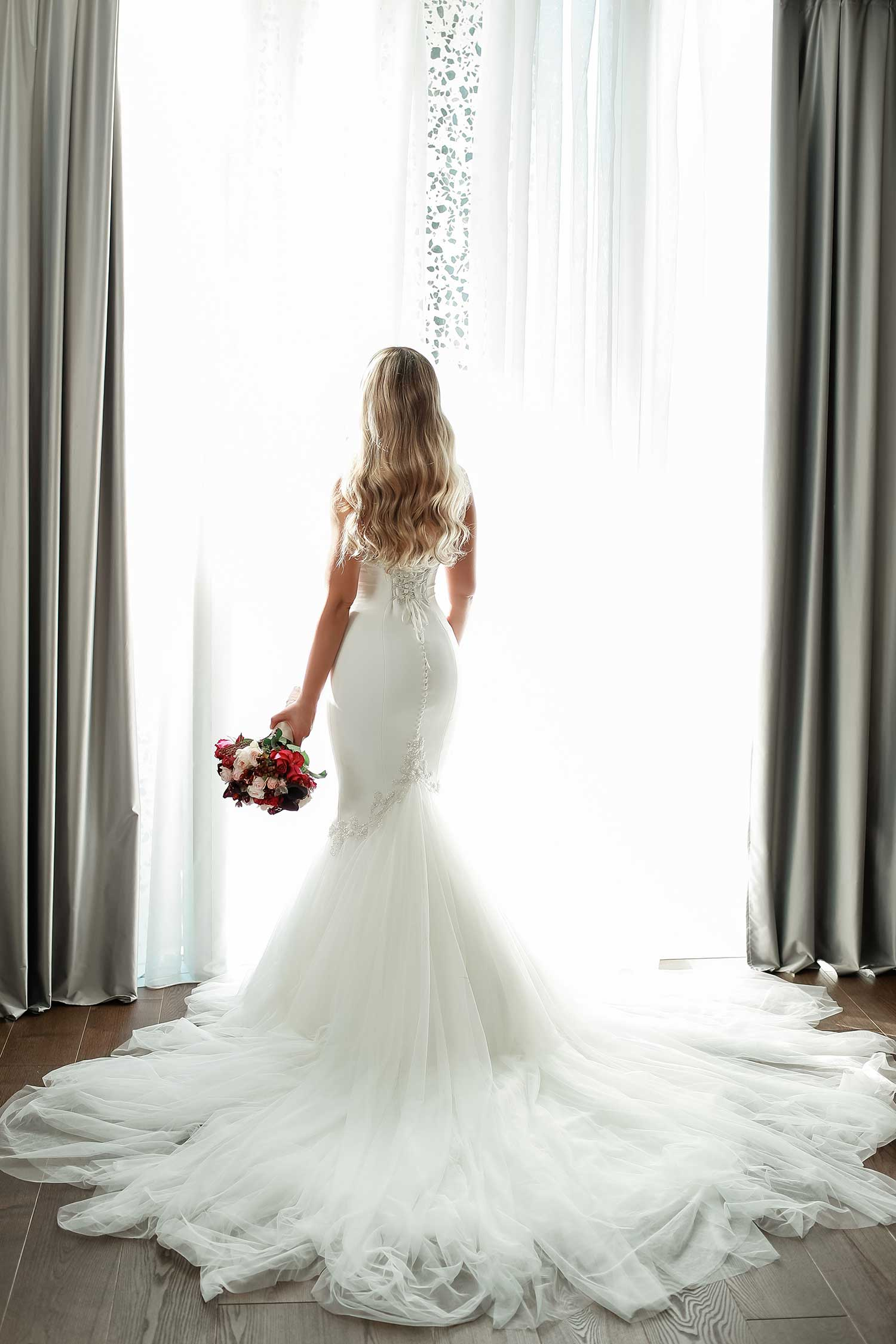 Perfect white wedding dress