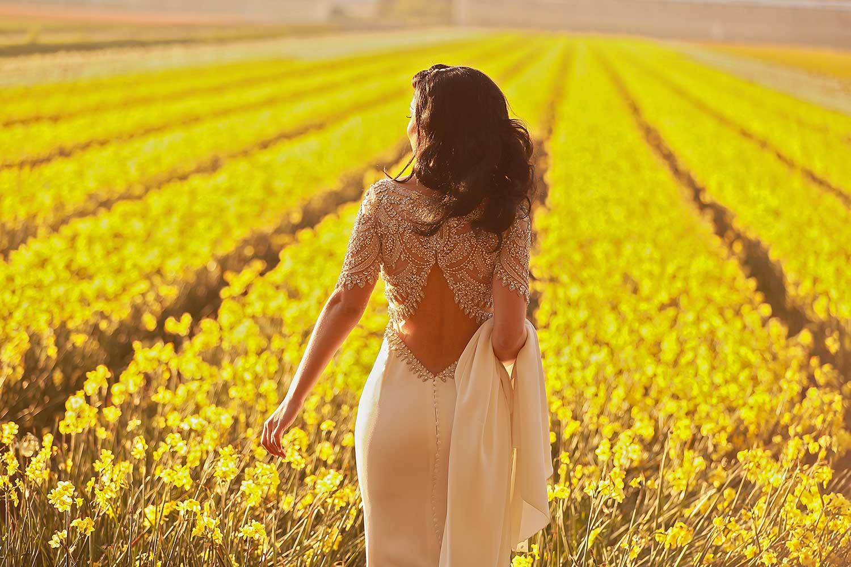 Pre wedding photoshoot in flower fields