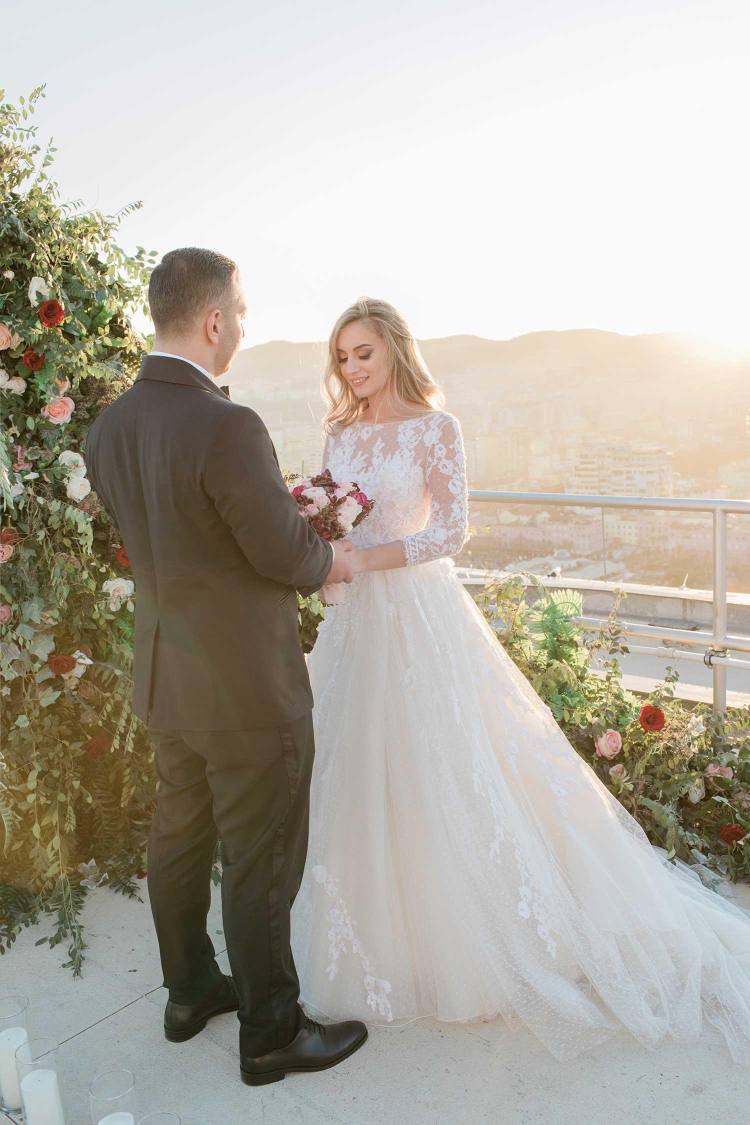 Pre-wedding photoshoot on terrace