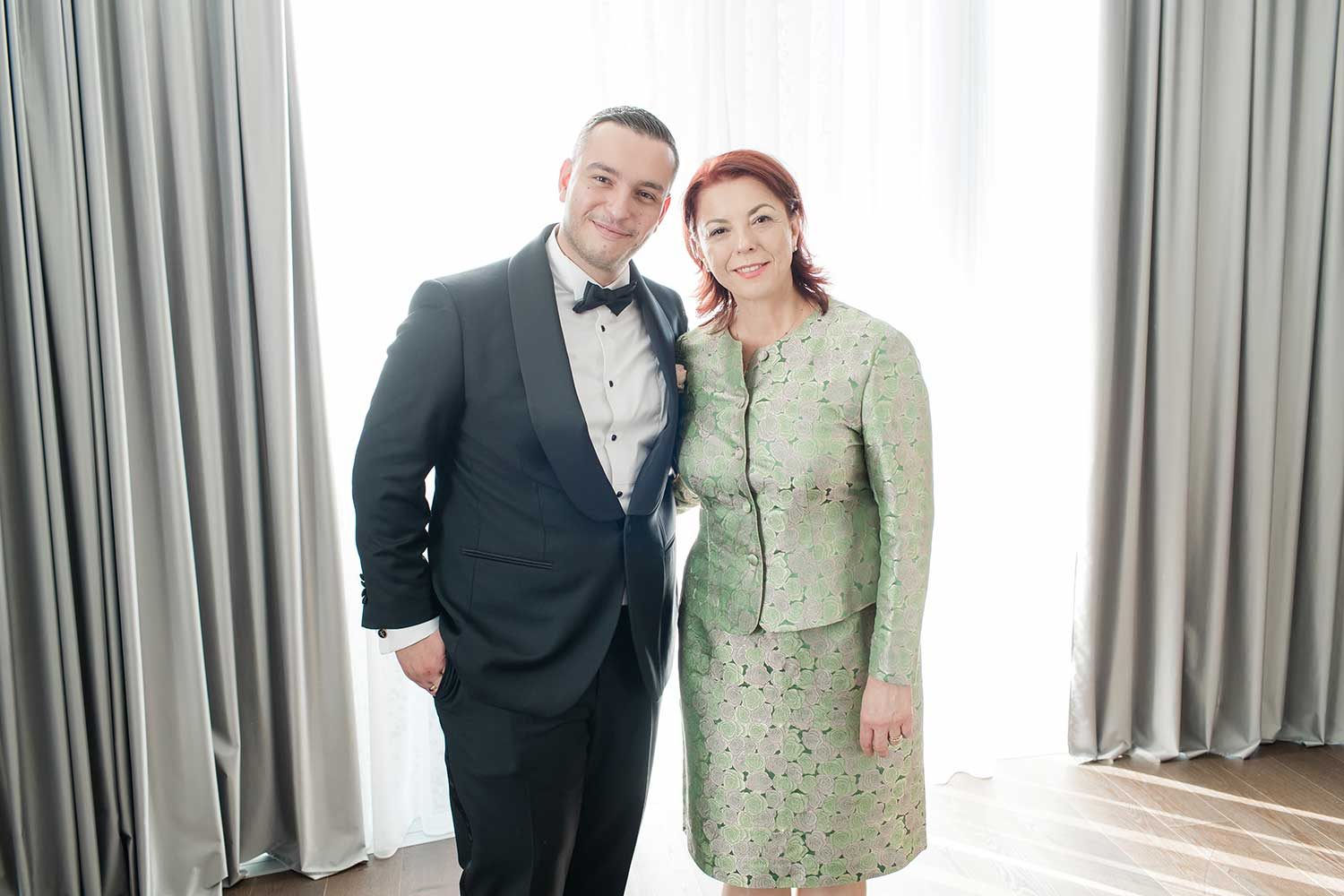 The groom and his mother