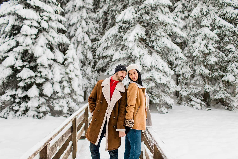 The lovely couple posing in Black Lake