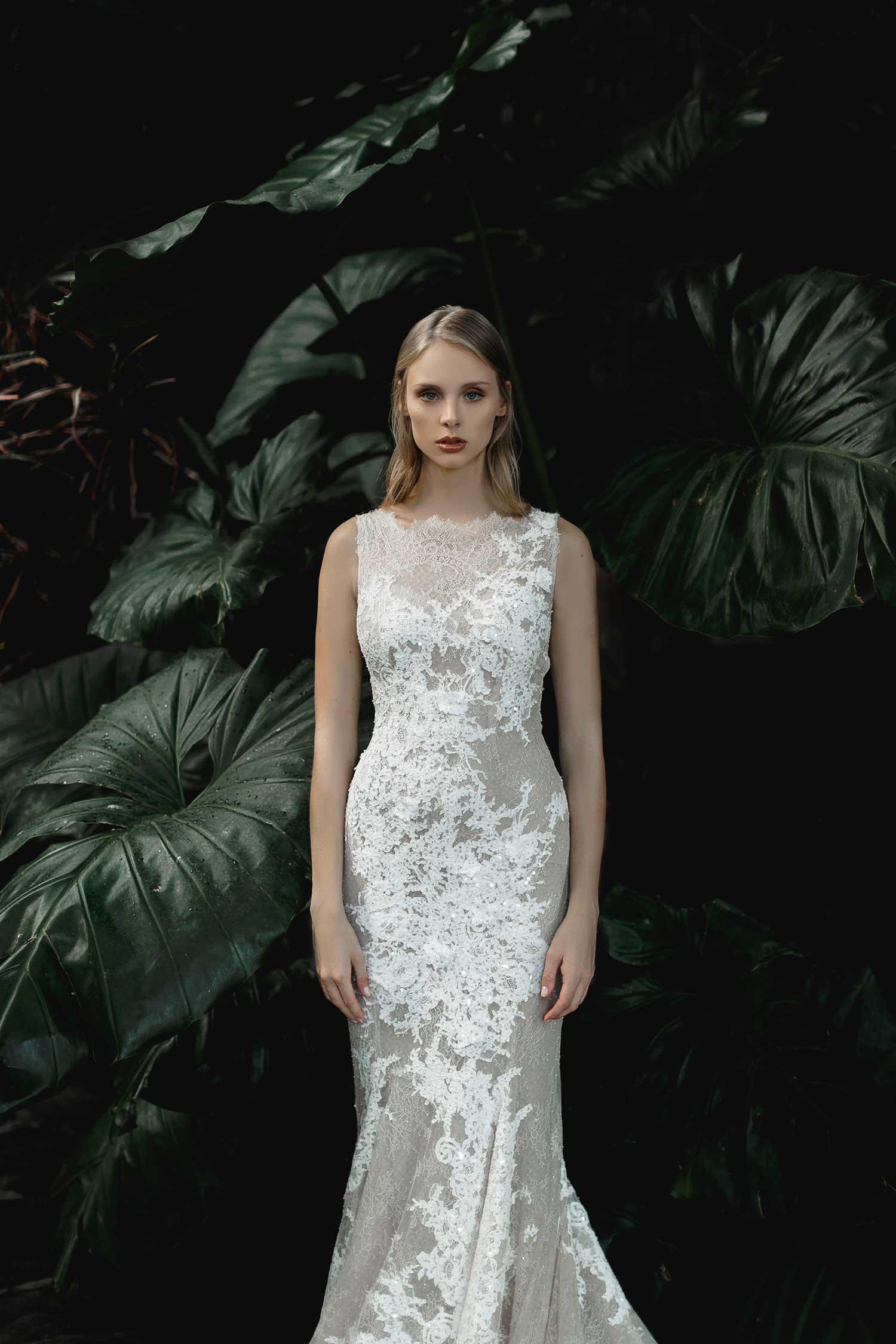 A modern bridal look