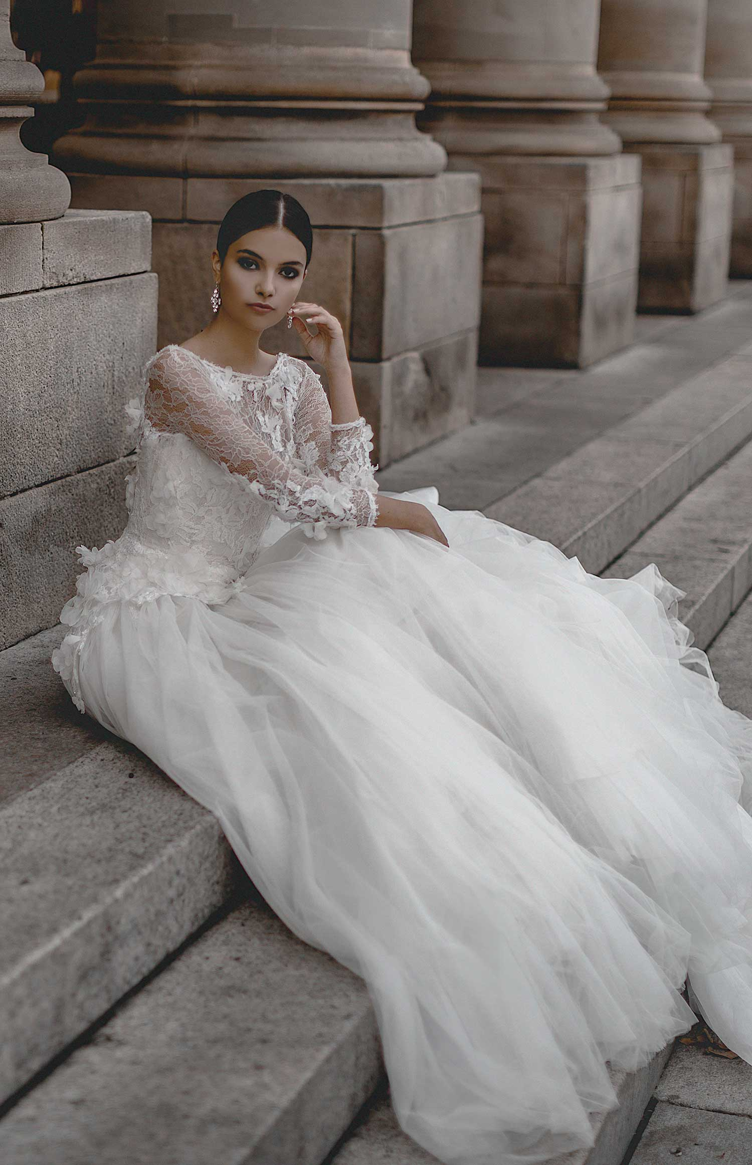 Beautiful architecture the perfect backdrop for bridal editorial