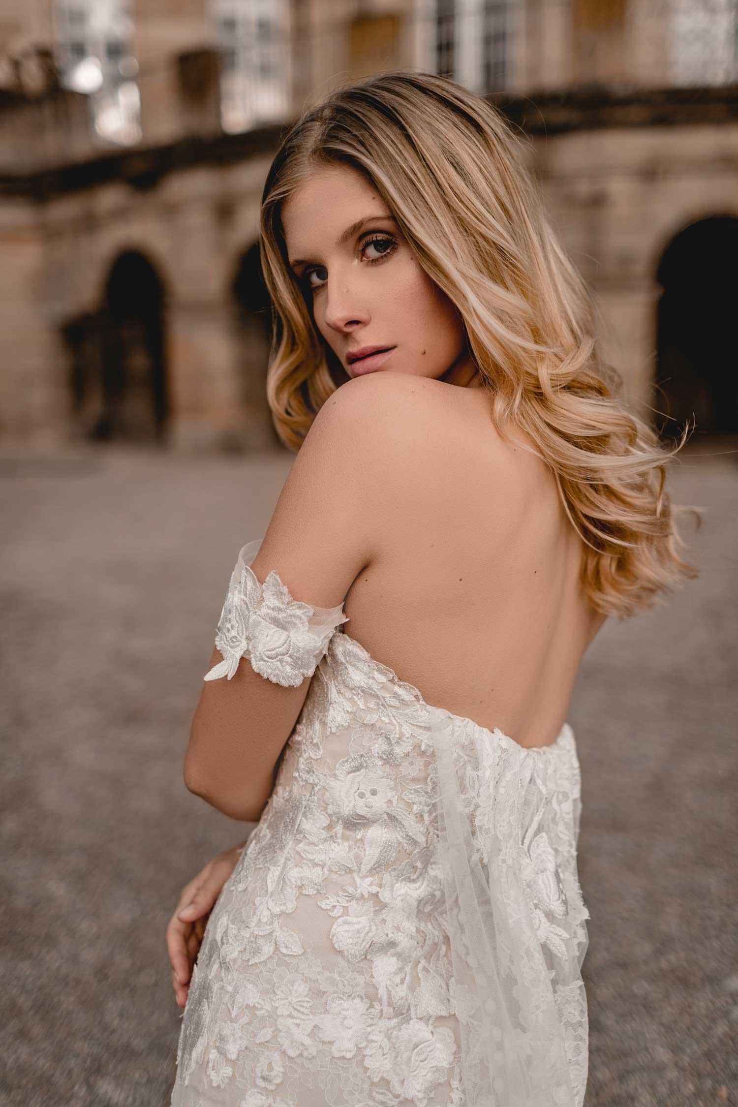 Beautiful model posing in Monrepos Palace