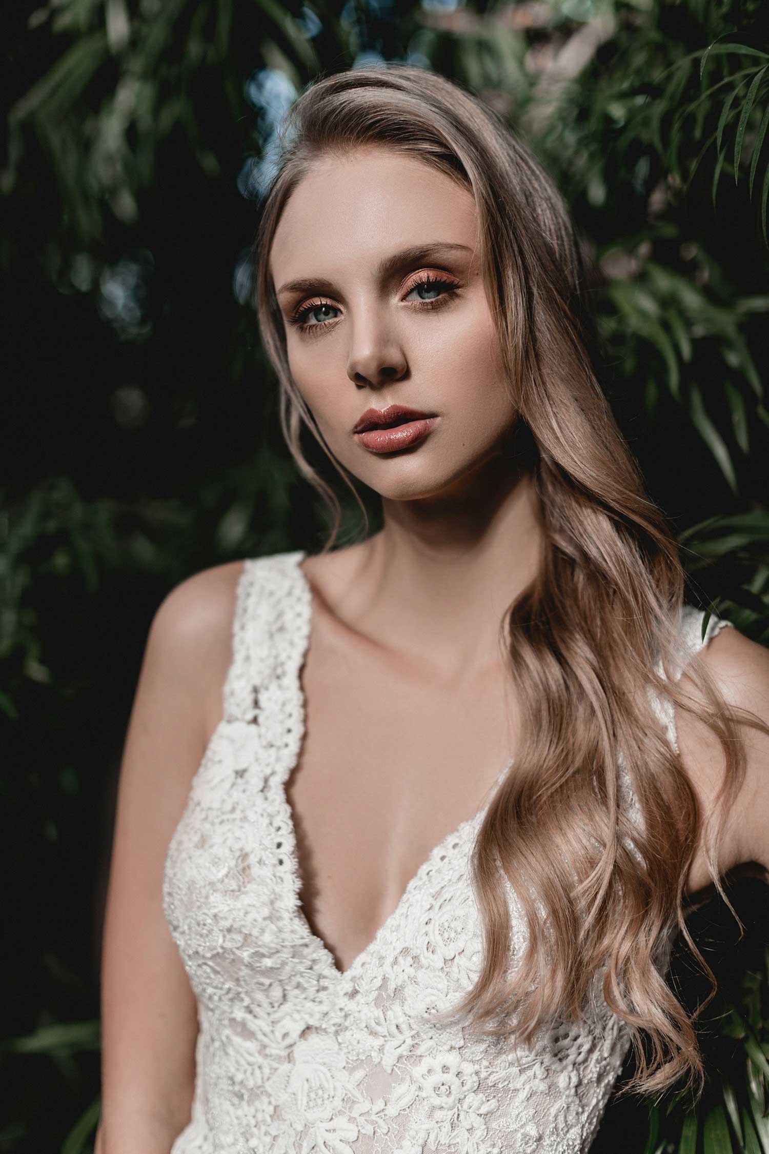 Beautiful portrait of the bridal model