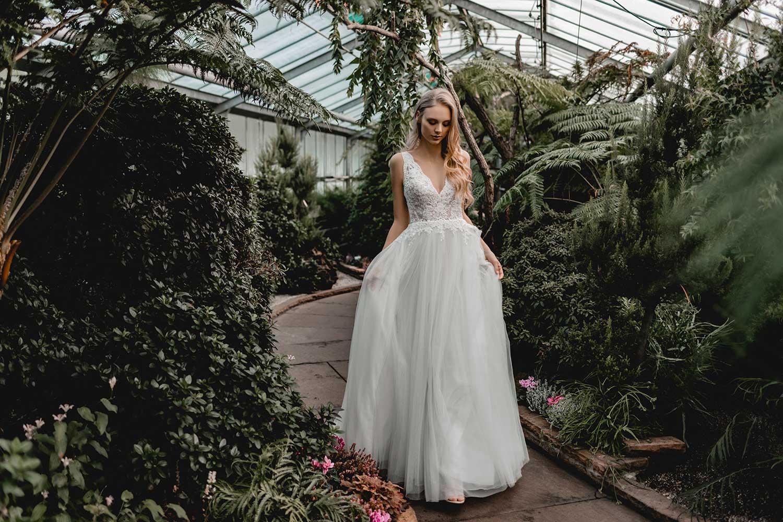 Bridal model in the Palmgarten