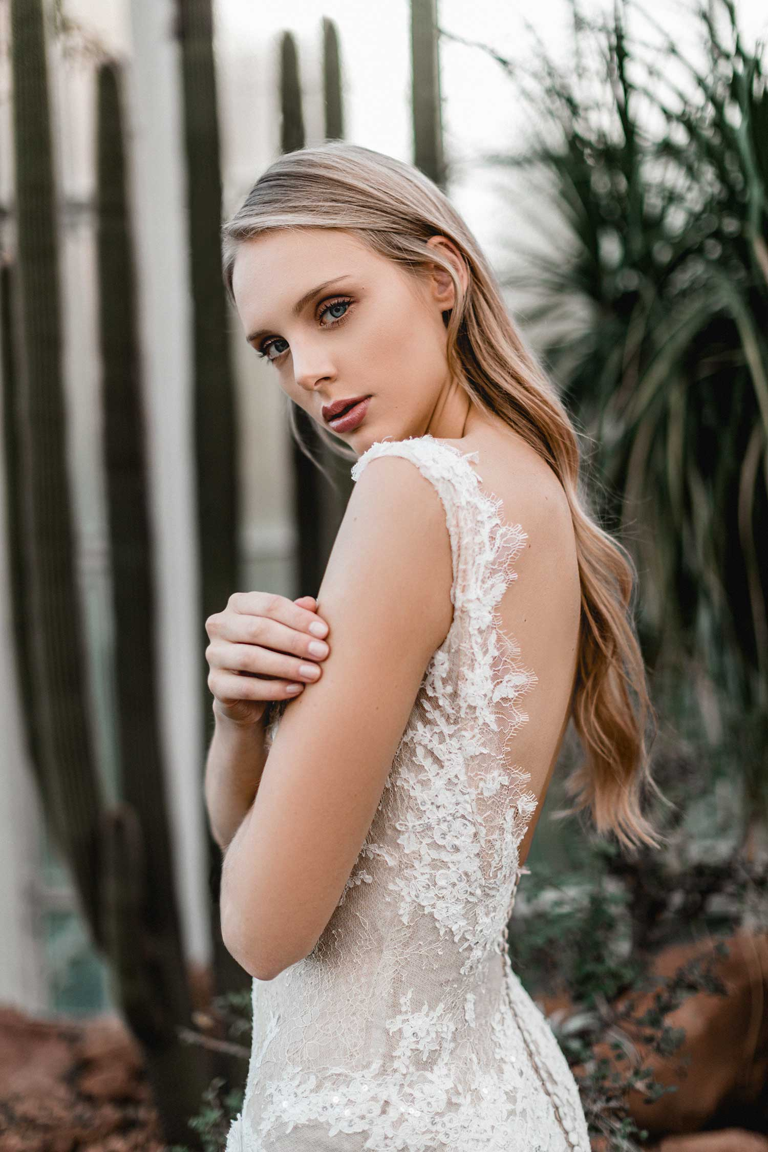 Bridal portrait in the Palmgarten