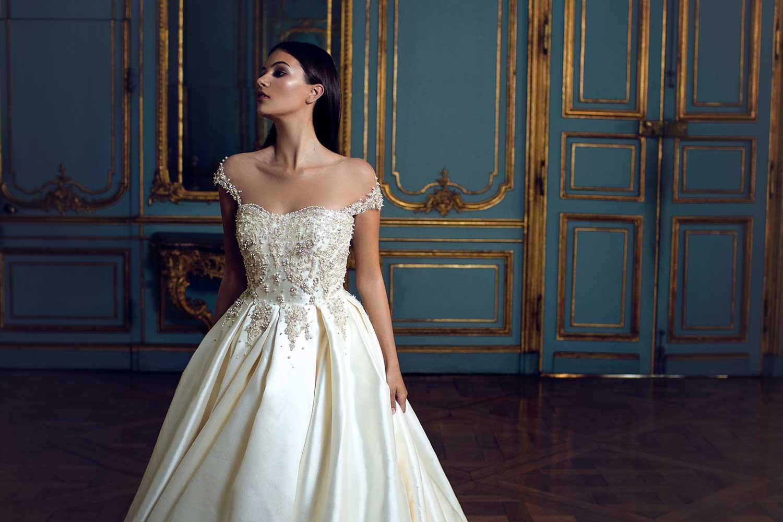 Classic interior design and bridal style