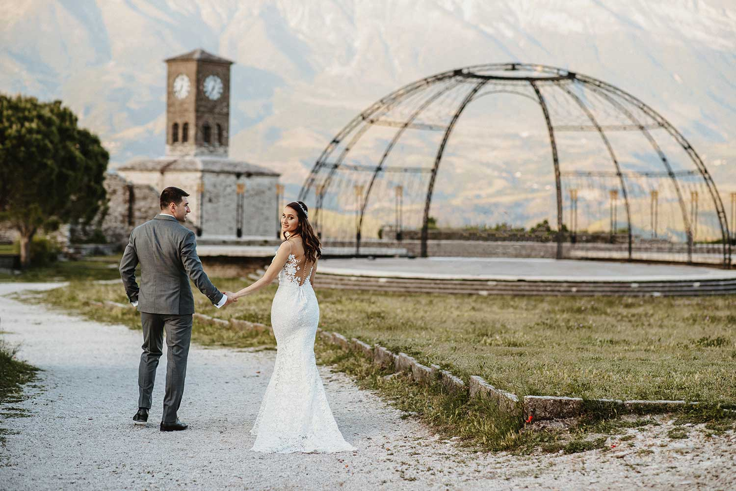Gjirokaster Castle wedding photos