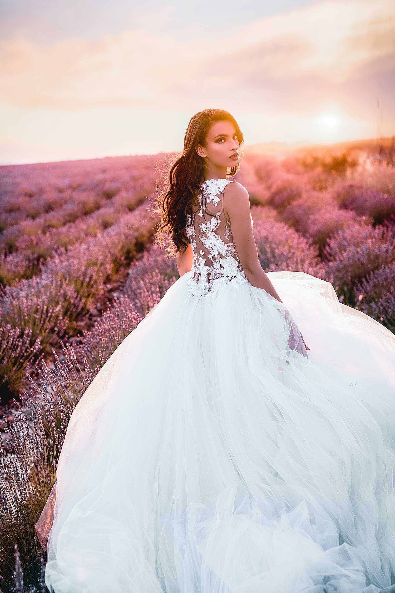 Lavender bridal editorial photoshoot