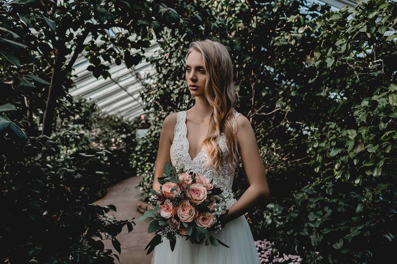 Model in bridal editorial