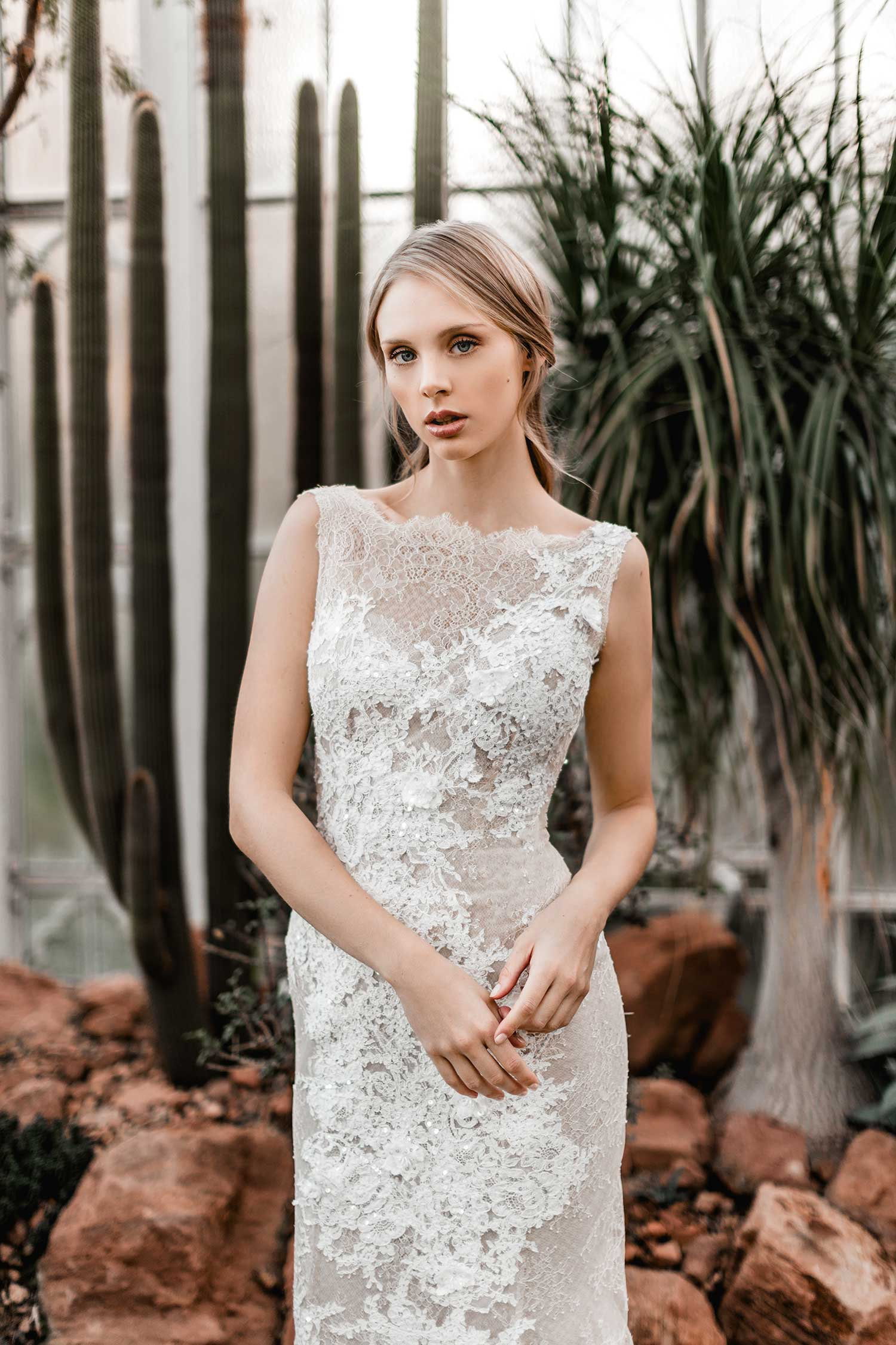 Perfect bridal photos in the Palmgarten