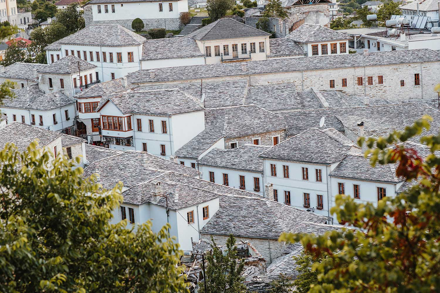 The beautiful architecture of Gjirokaster