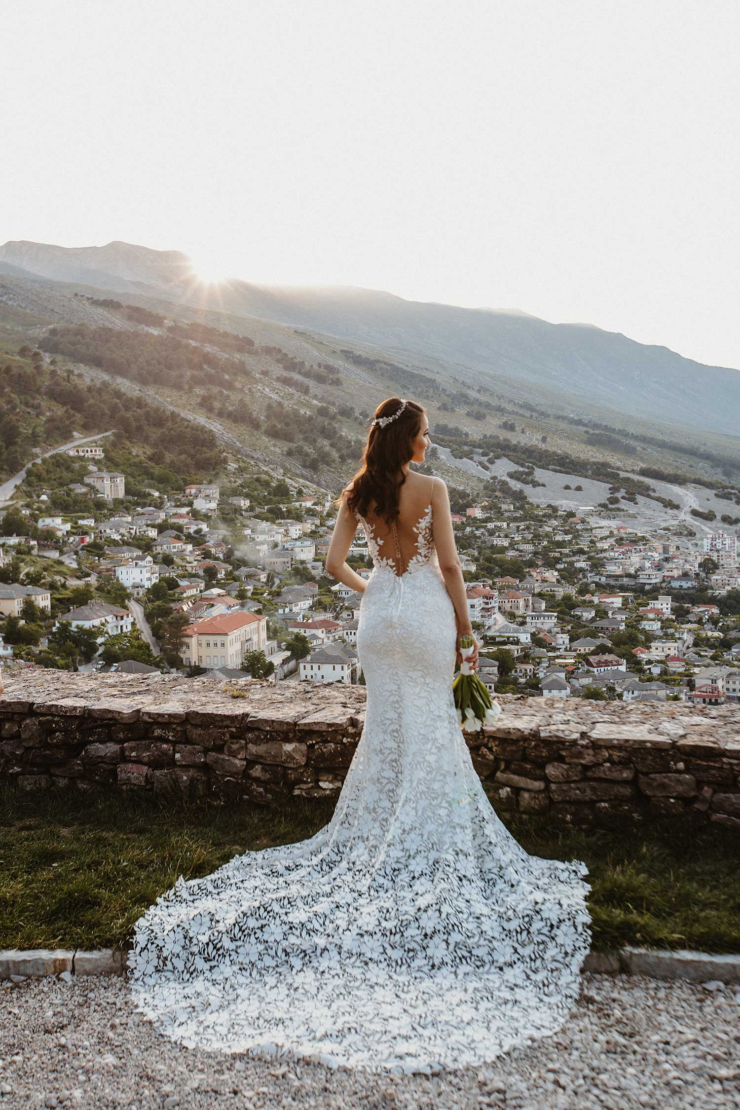 The perfect view for the wedding photoshoot