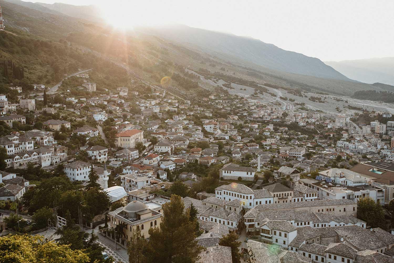 The view from Gjirokaster Castle