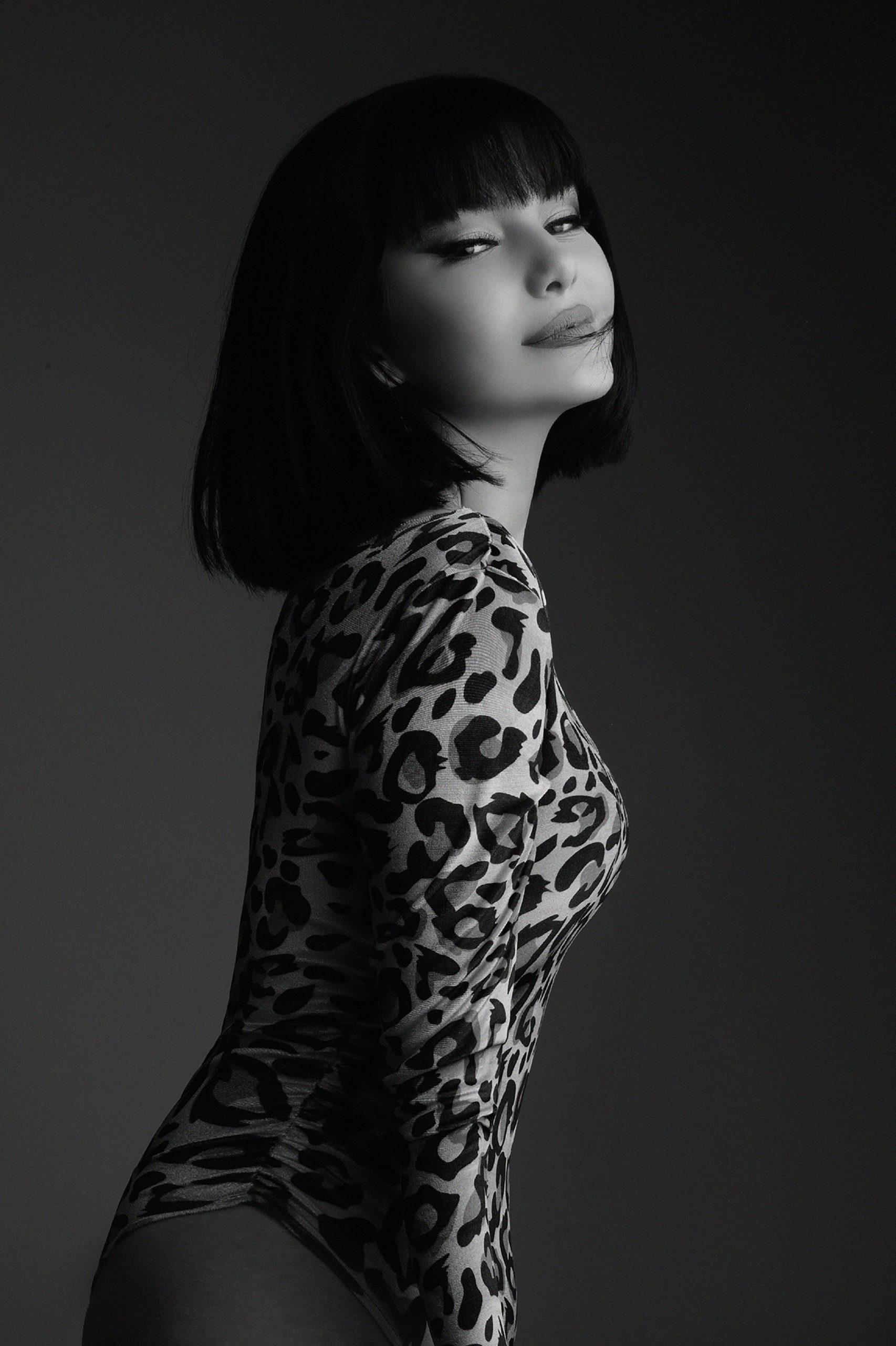 Black and white studio photography