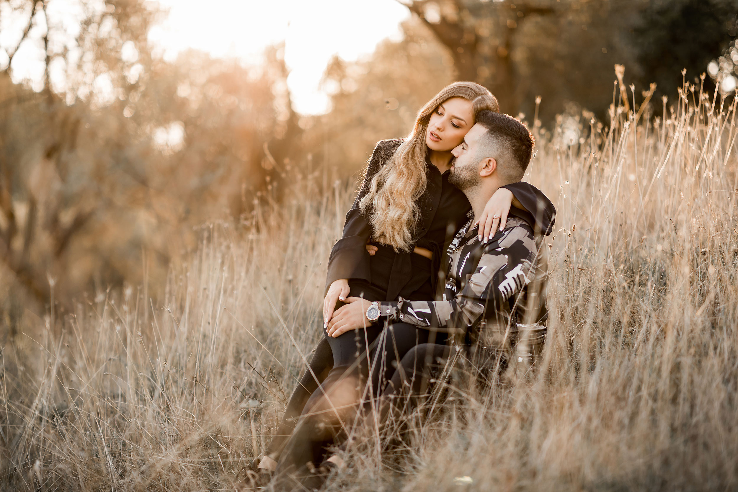 Couple sharing their love in nature