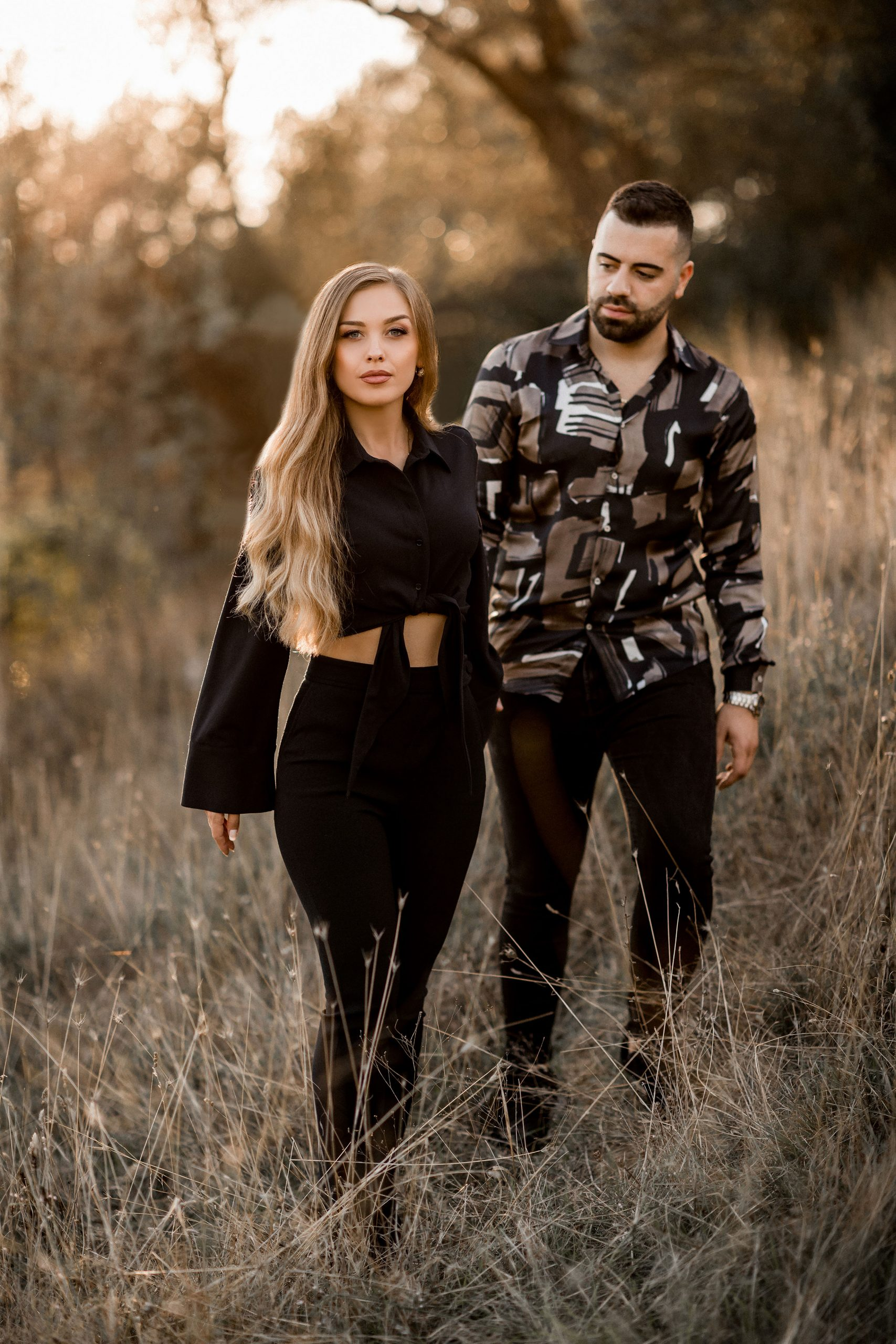 Couple walking in the nature