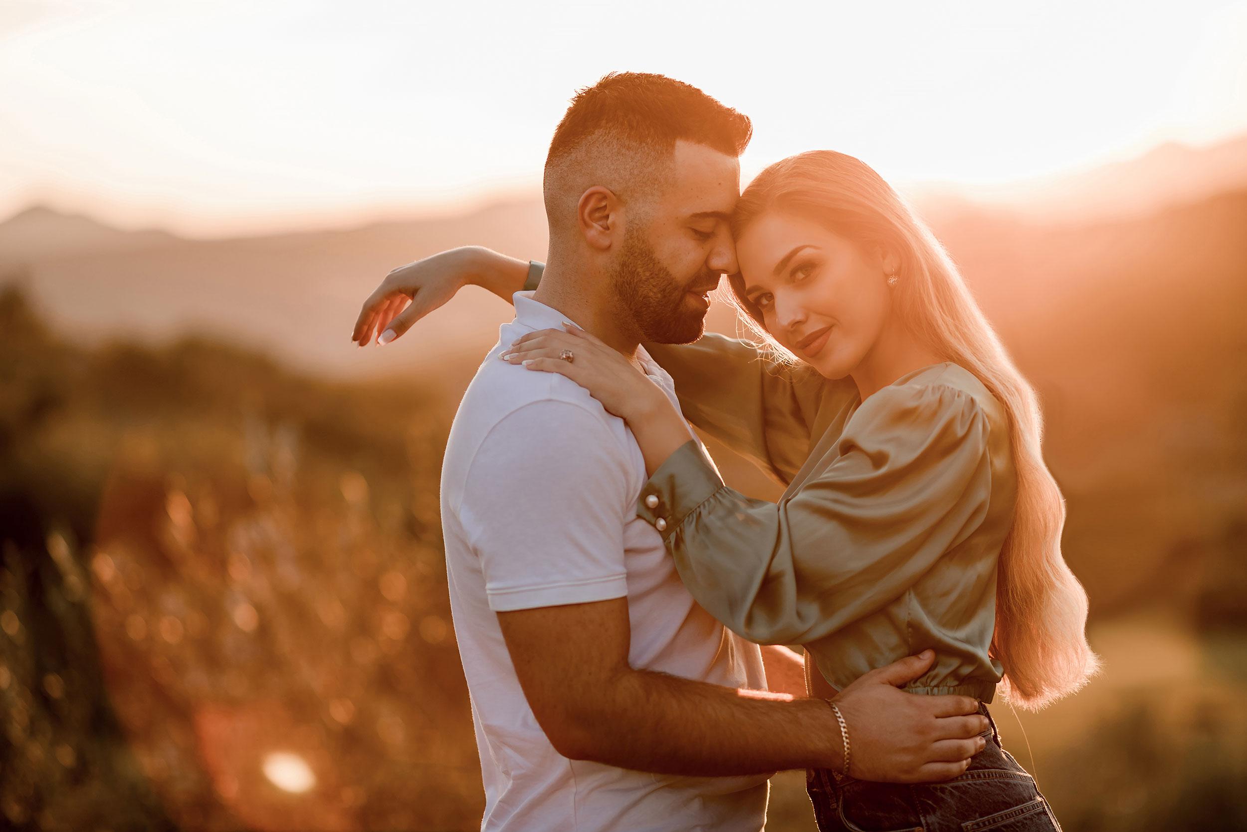 Romantic couple photography