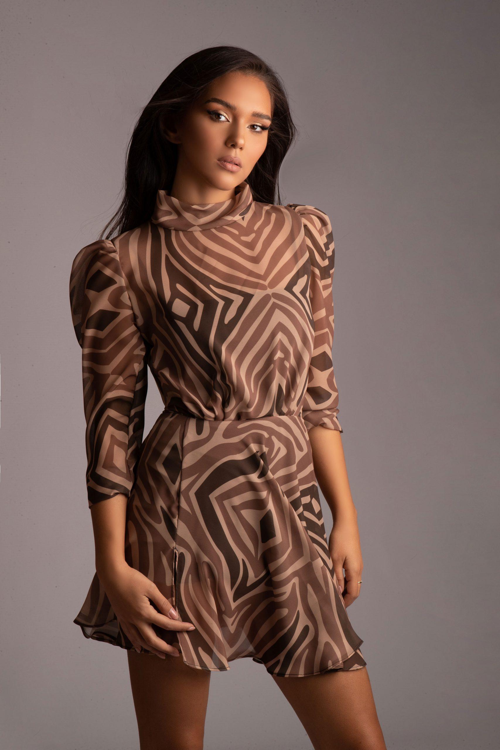 The celebrity marketer wearing Jungle Humans' dress