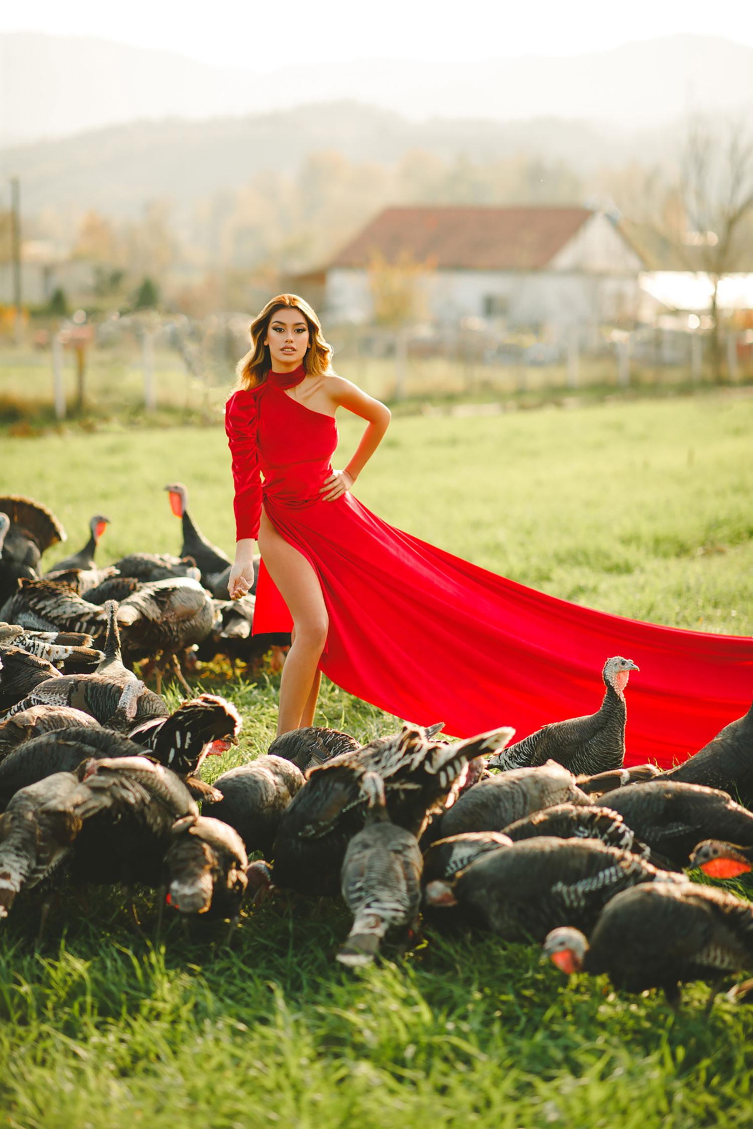 Miss Shqiperia calendar photoshoot in nature