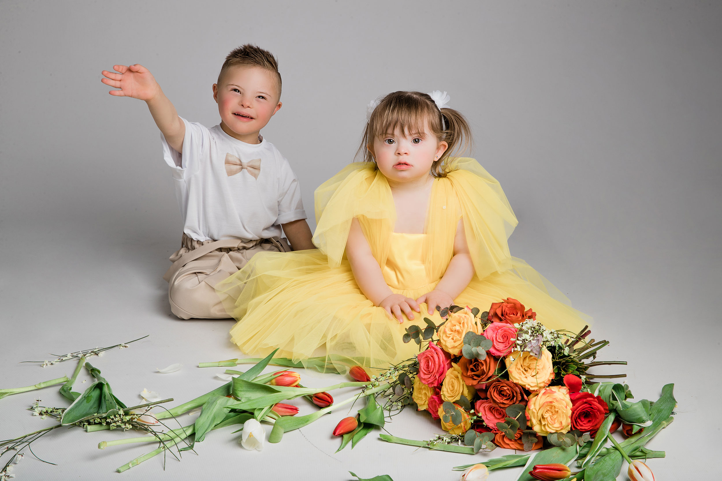 Down Syndrome Kids studio portrait photo