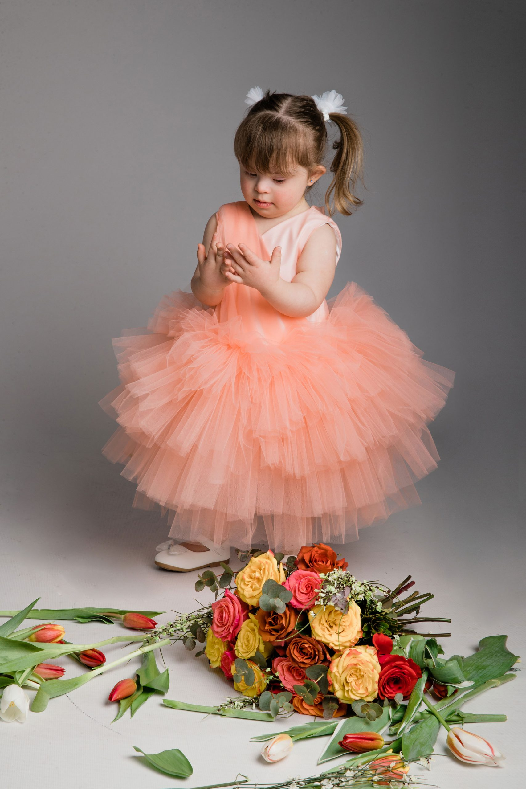 Girl with Down Syndrome studio photography