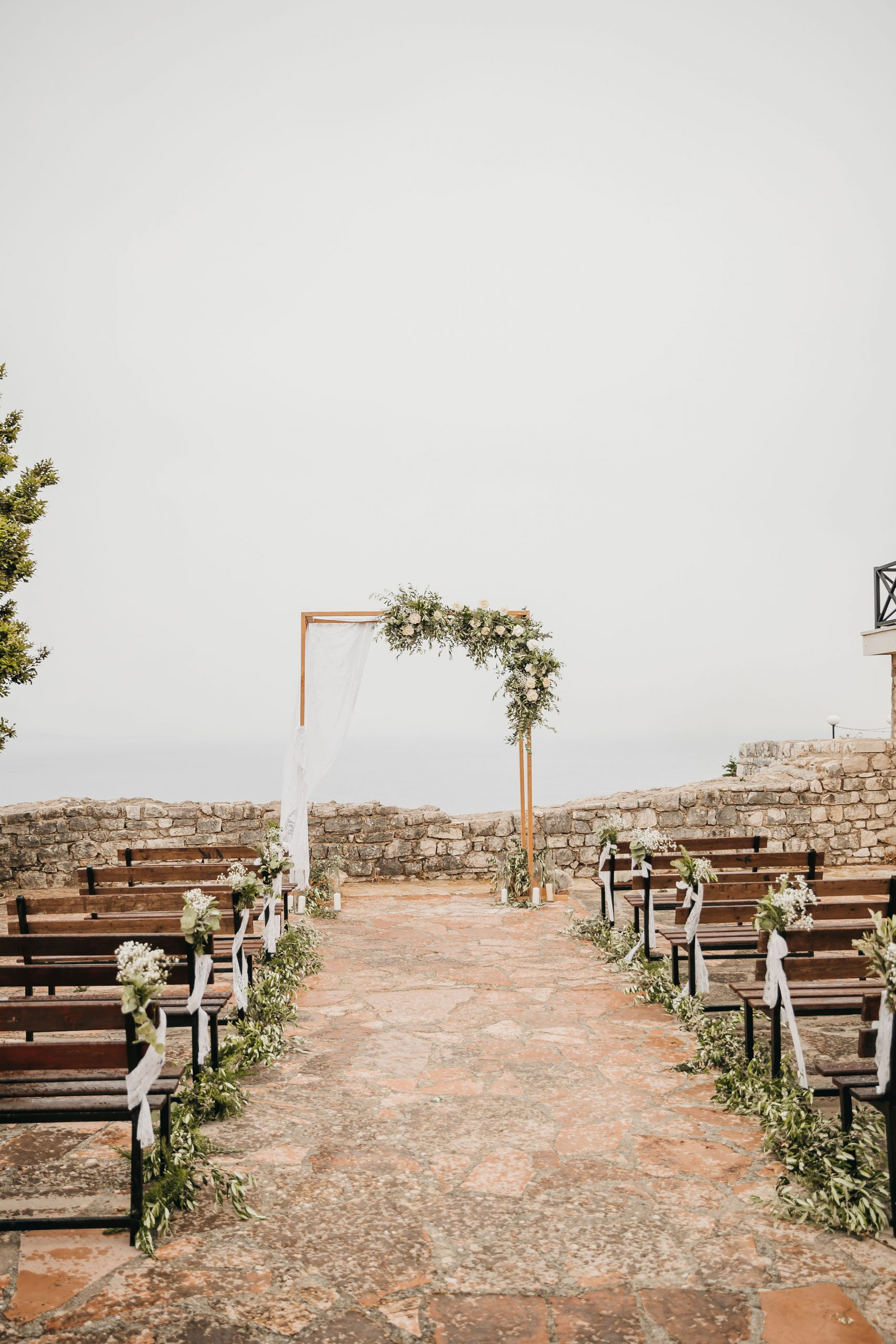 A small and intimate wedding ceremony