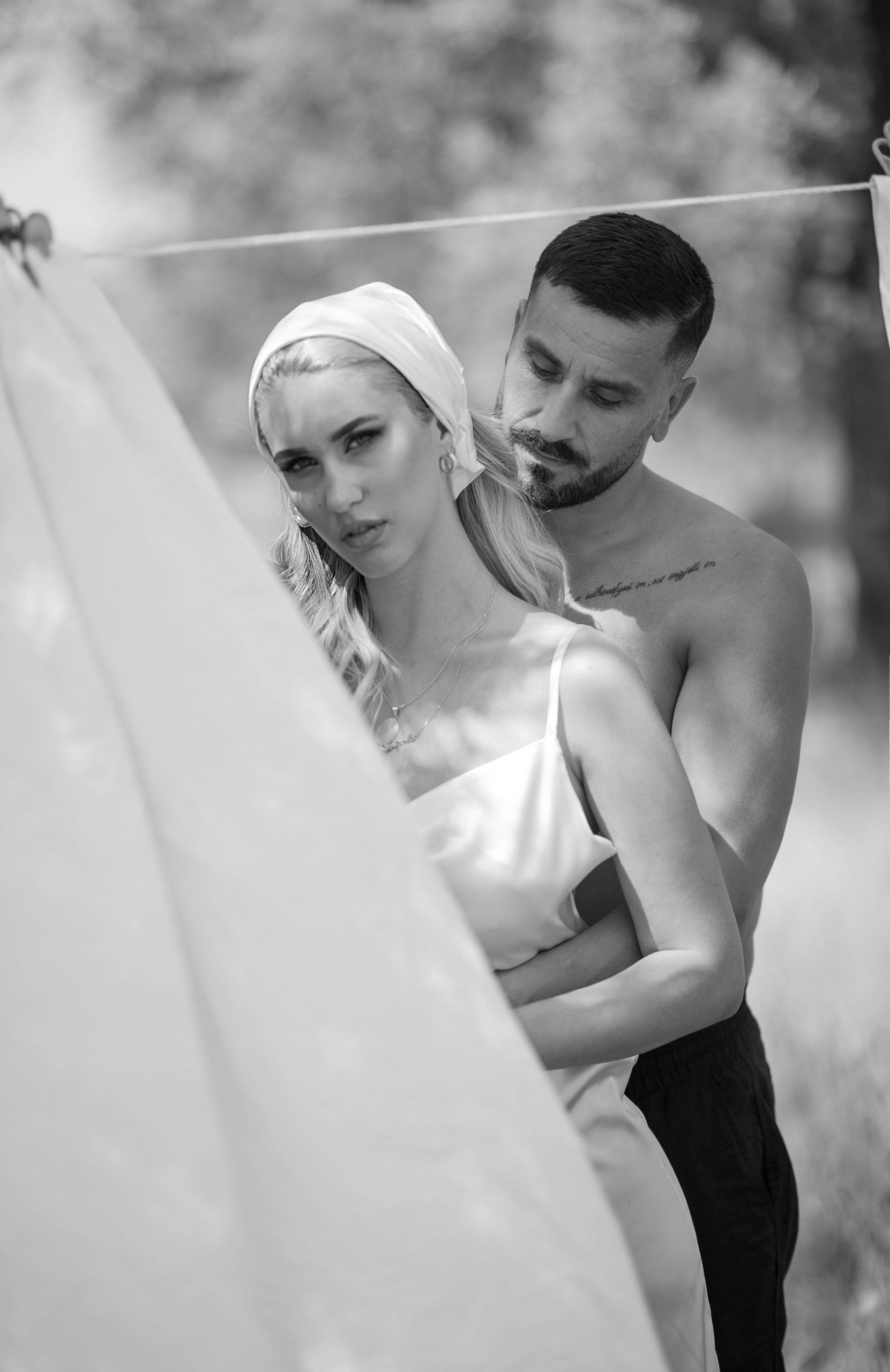 Black and white couple's photography