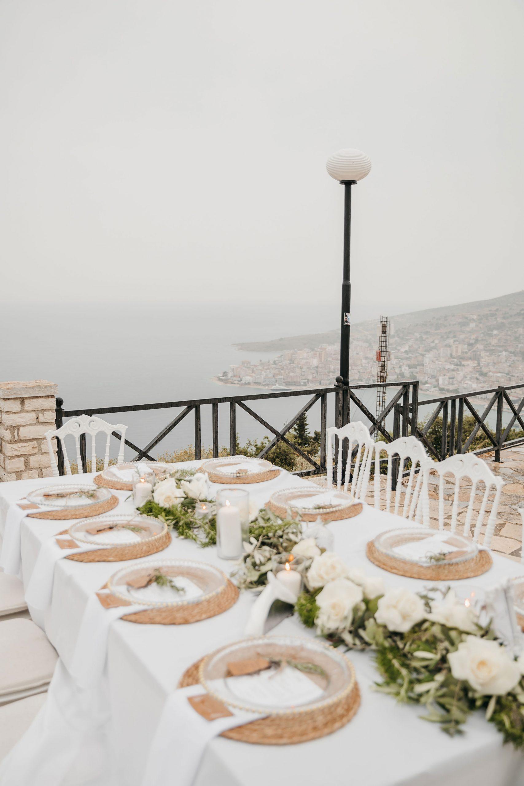 Picturesque view from Lekuresi Castle wedding