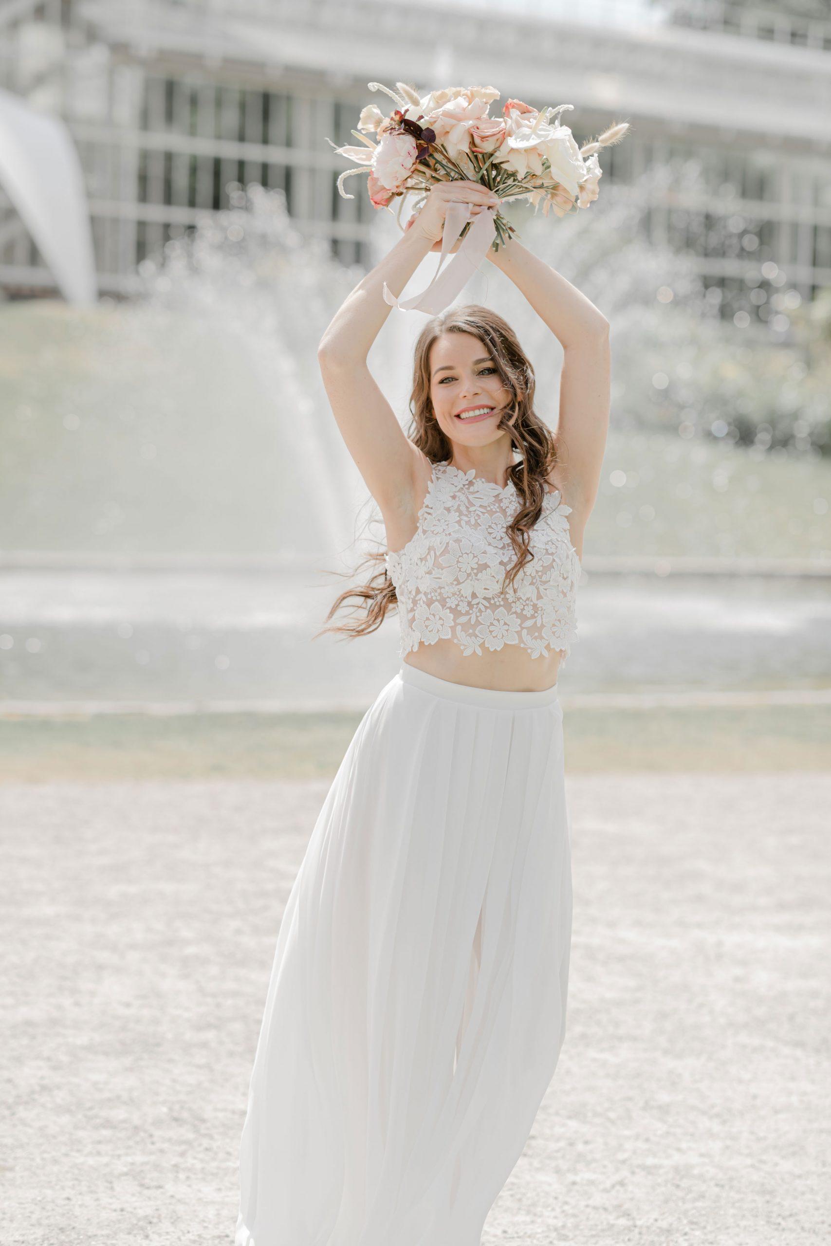 Two piece wedding dress- Bridal Style