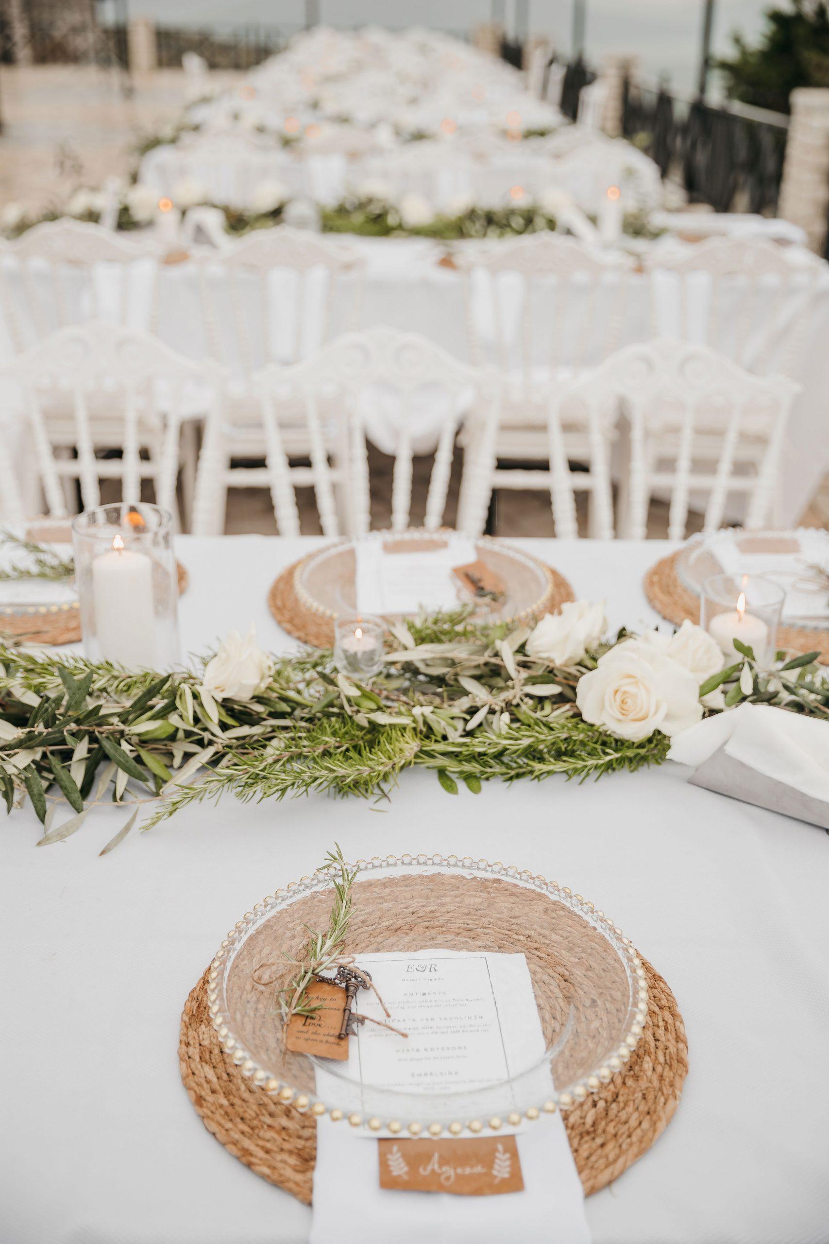 Wedding tables decor photos