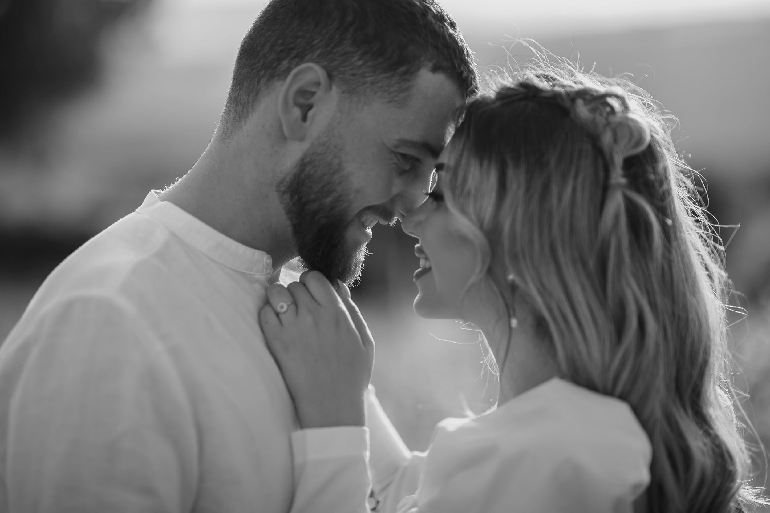 Black and white couple portrait photography