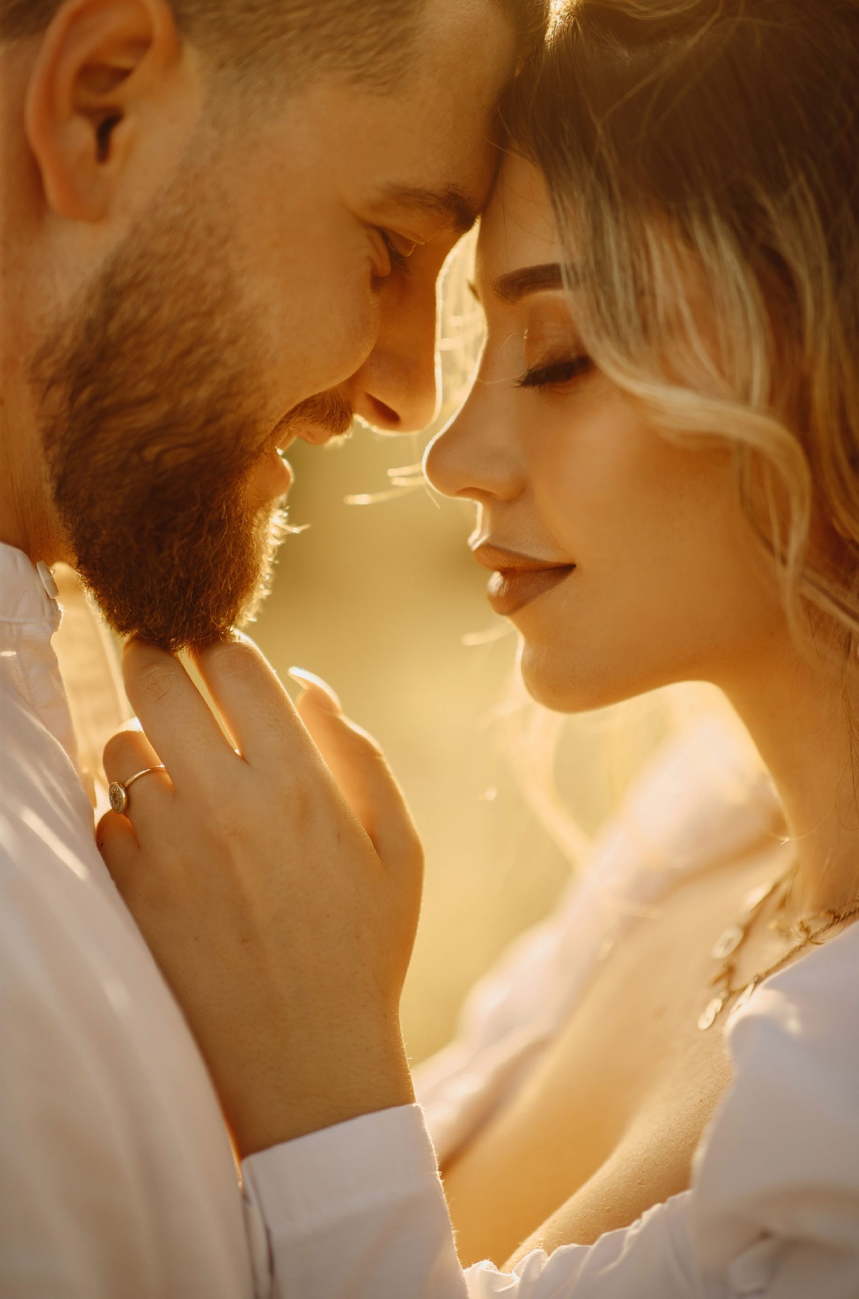 Couple's love photographed during golden hour