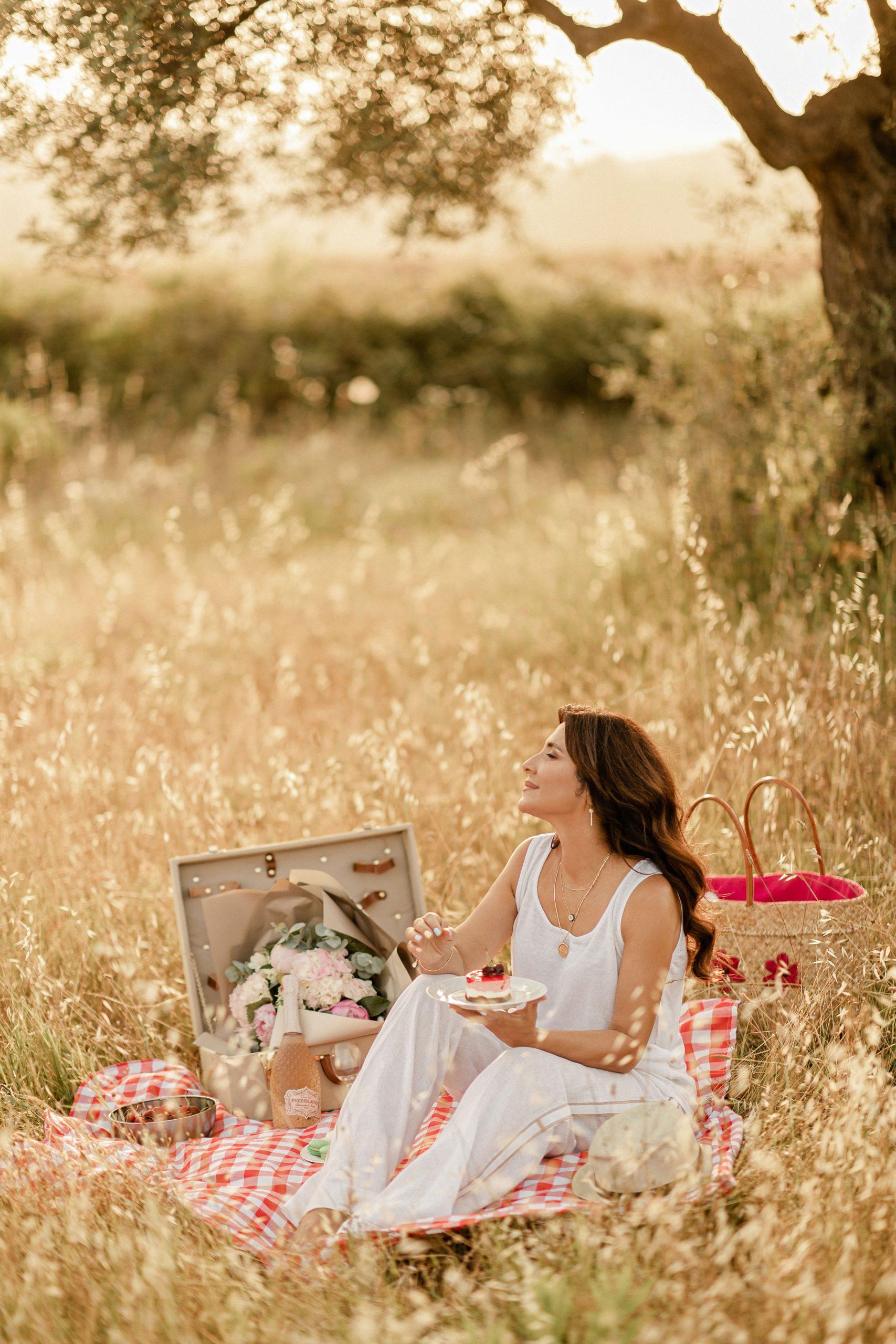 Iva Tico enjoying nature and the fresh air