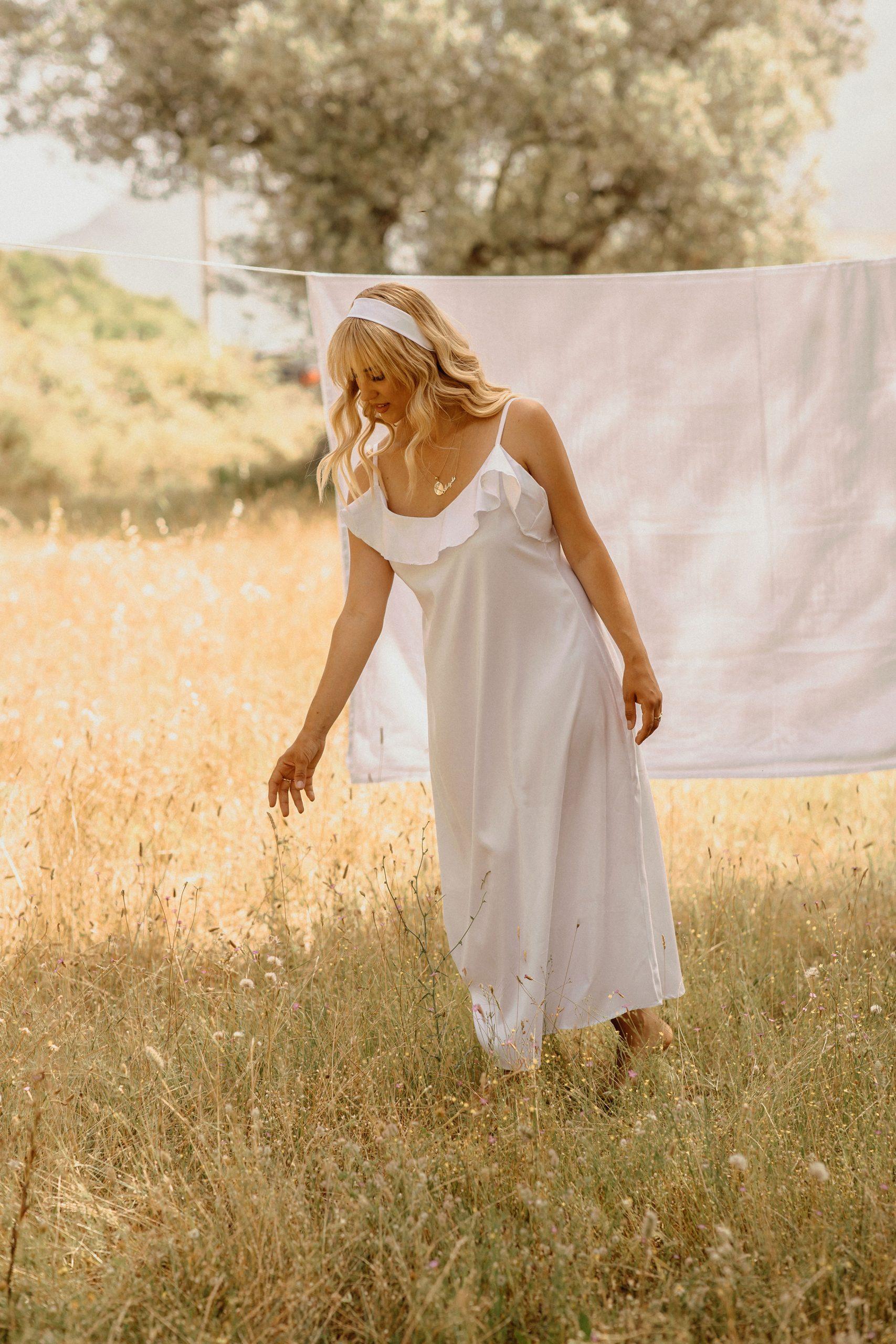 Nature clothesline photoshoot
