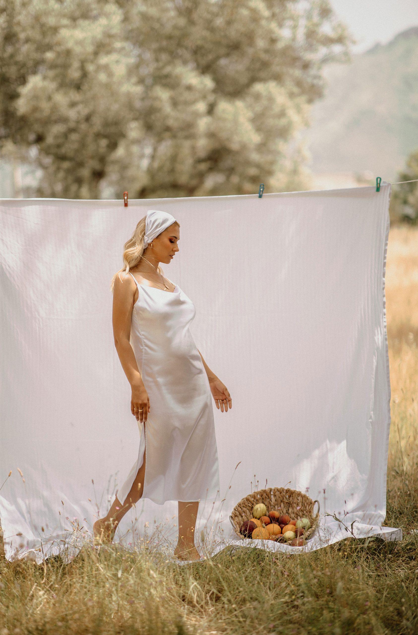 Summer clothesline photoshoot