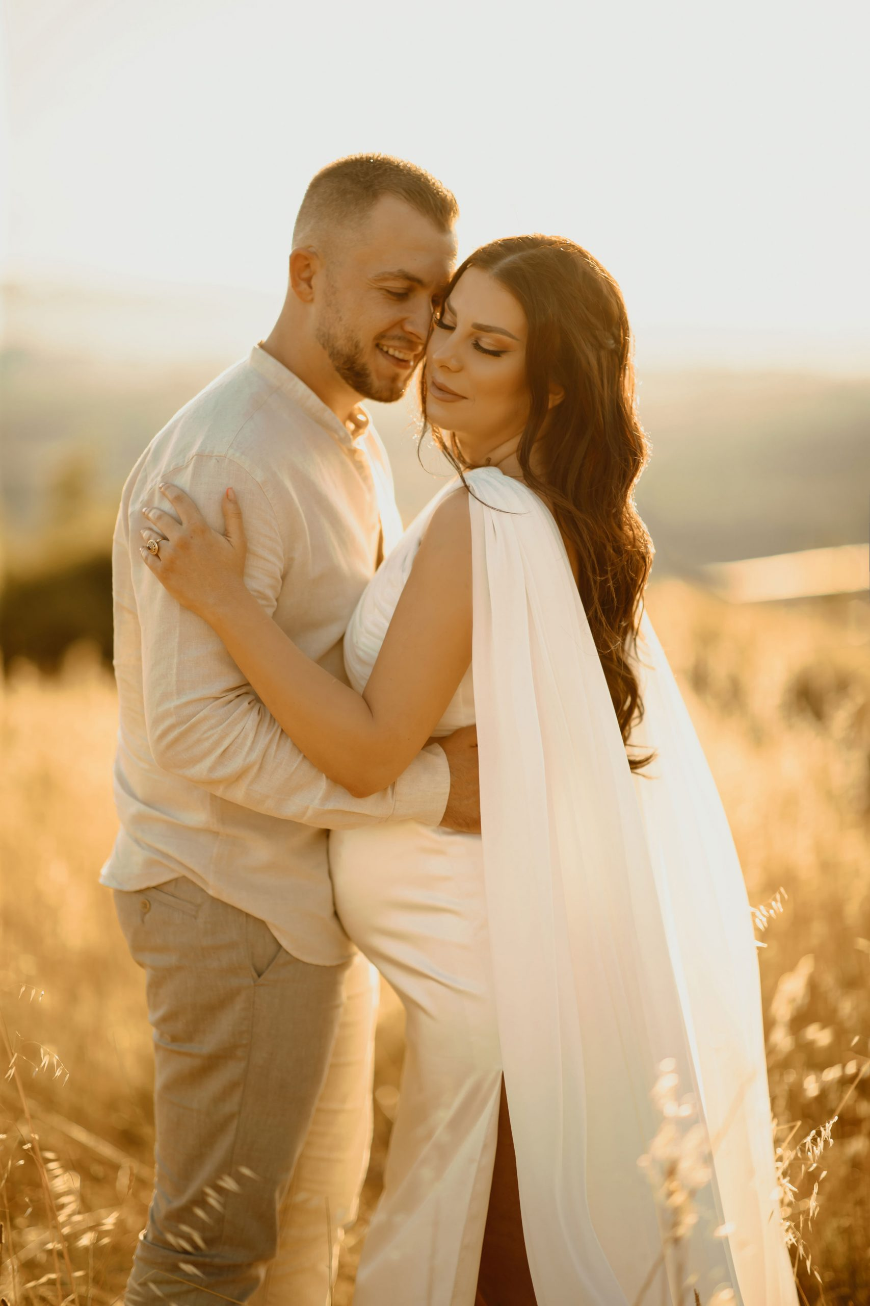 Couple's gender reveal photoshoot