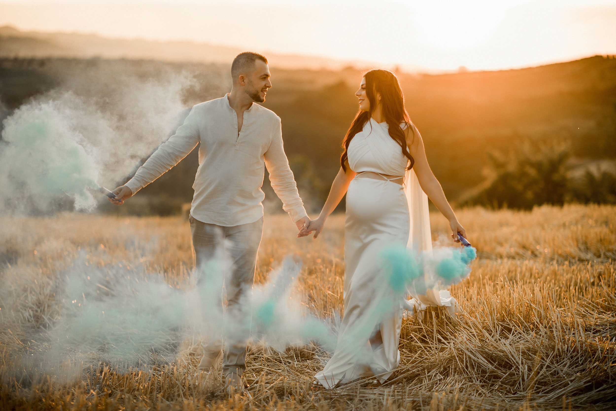 Parents to be finding out it's a boy